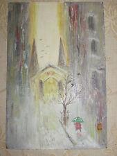 Vintage Original Pintura Al Óleo A Bordo - 1950