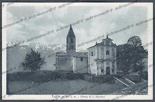 SONDRIO TEGLIO 12 VALTELLINA PREGHIERA alla MADONNA di S. MARTINO Cartolina 1940