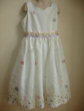 JAYNE COPELAND GIRLS PAGEANT DRESS size 8 WHITE PINK GREEN BLUE WEDDING PRETTY