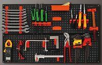 Werkzeugwand Halterung Werkstattwand Werkzeughalter Schwarz Orange