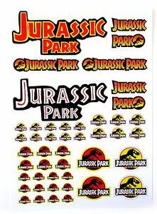 Kenner Jurassic Park Logo sticker set - Lot's of sizes!