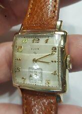 Vintage 1950's Men's Elgin 17 Jewel Grade 554 Ref #6727 Wrist Watch