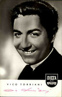 Autogrammkarte Autograph Sänger TV handsigniert VICO TORRIANI Autogramm ~1950
