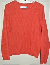 Sparrow Anthropologie Sweater Orange Chunky Knit Size M Womens Ladies