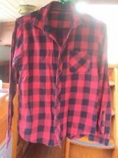 Unbranded Check Button Down Shirt Tops & Blouses for Women