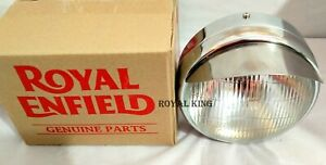 """ROYAL ENFIELD CLASSIC UCE MODEL 7"""" COMPLETE """"HEAD LIGHT WITH BULB"""""""