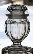 HEISEY COLONIAL #354 MEDIUM FLAT PANEL CLEAR FOOTED JAR