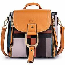 DASTI Checkered Anti Theft Purse Small Mini Backpack Convertible Backpack Purse