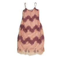 Zara Pink 90's Style Lace Detail Pink Slip Dress Size Large Spaghetti Straps