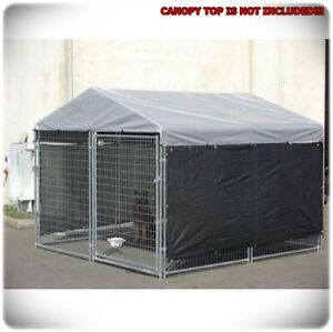 10 X 10 Dog Kennel Cover Heat Wind Screen Outdoor Yard Garden Pet Winter Canopy