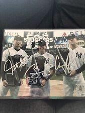Aaron Judge Giancarlo Stanton Gary Sanchez NY Yankees Autographed 8x10 COA