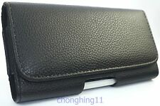 New Black Leather Belt Clip Holster Pouch Carrying Case for Samsung Galaxy S6