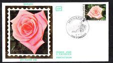MONACO   enveloppe 1er jour   fleur  salon de la rose   1981