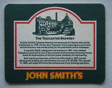 JOHN SMITH'S BITTER THE TADCASTER BREWERY COASTER