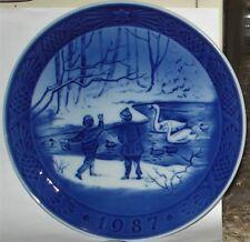 "Royal Copenhagen 1987 Winter Birds Christmas Plate - 7 1/8"""