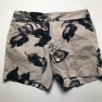 INC International Concepts Brown Black Floral Print Shorts Size 2 A960