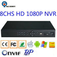 HD 8 Chs 1080P H.264 CCTV NVR Recorder for IP LPR Cameras& IP Fisheye Camera