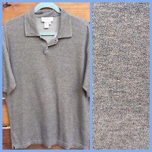 ERMENEGILDO ZEGNA Men's Cotton Knit Polo Shirt Size Large 52 Golf Made Italy