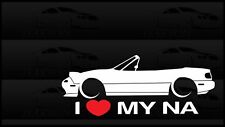 I Heart My NA Miata Sticker Love Mazda Slammed JDM Japan Drift Vert