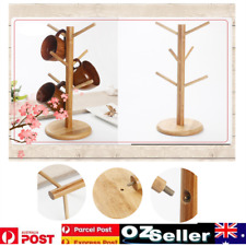 Wooden Tree Shape Coffee Mug Drying Cups Storage Rack Hanger Holder Home Kitchen