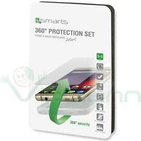 Kit 4SMARTS pellicola vetro+custodia TPU cover AIR trasparente pr Huawei P9 Plus
