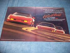 """1989 Corvette Vintage Ad """"See the Best of Europe Through Your Rearview Mirror"""""""