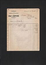 Remiremont, facture 1927, Gilbert Jeanpierre fabrique de poeles en faîence
