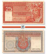 Netherlands 25 Gulden 1949 Salomo VF  RARE serial 3DF002853