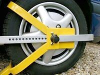 "13"" - 15"" Car, Van, Trailer & Caravan Security Anti Theft Wheel Tyre Clamp Lock"