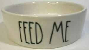 RAE DUNN FEED ME Cat Puppy Pet Dish Ivory Bowl Artisan Collection by Magenta