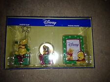 Winnie The Pooh Holiday Set Snow Globe Frame Photo Clip