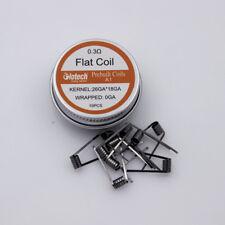 Glotech Flat coil prebuilt coil heating wire Premade coils for RDA RBA RTA vape