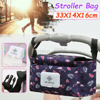 Baby Pushchair Storage Organiser Bottle Holder Pram Stroller Bag Cup 33cm