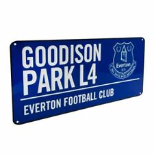 Everton FC Goodison Park Verein-kamm Straßenschild blau
