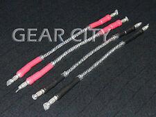 cjc80 Bi-Wire Speaker Jumper Cable Silver OFC 500 Strand Banana Spade Plug HiFi