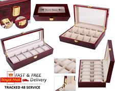 Mens 4 6 10 12 Grids wooden Watch Display Case Collection Storage Holder Box