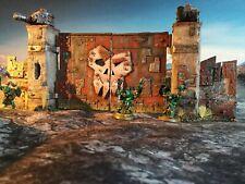 Ork Orc 40k Wargames Terrain Scenery Ork Wall Barricade Gate