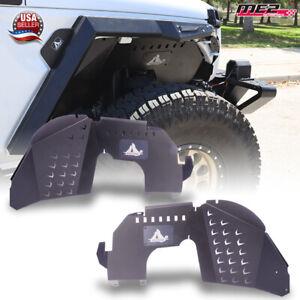 For 19-21 Jeep Wrangler JL/JLU Gladiator JT Front Inner Fender Wheel Liners PAIR