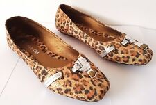 LOVELY GIRL Womens Ladies Ballerina Type SHOES Size 38 - Faux Leopard Skin - New