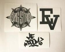 gang starr evidence mf doom hip hop rap vinyl decal stickers