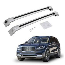Silver Top Cargo Roof Bar Cross Bar for Lincoln Aviator 2018-2020