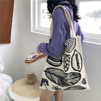 377aff91b18 100% Natural Cotton Large Handbags Reusable Shopping Shoulder Canvas Tote  Bag