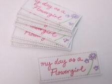 Set di 10 RICAMATO mio giorno come un Flowergirl Arts Crafts Card Making motivi # 5b60