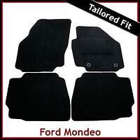 FORD MONDEO Mk4 2007-2014 Tailored Carpet Car Floor Mats BLACK