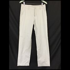 Garnet Hill Khaki Pants 6P Beige Flat Front Straight Leg 100% Cotton 31 x 31