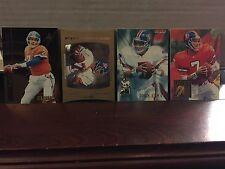 1990's John Elway Assorted Four Piece Insert Card Lot