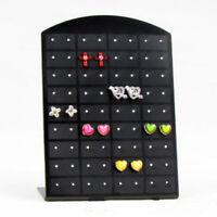 36Pair 72 Holes Earrings Jewelry Show Black Plastic Display Rack Stand Holder