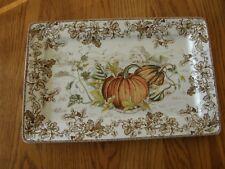 Williams Sonoma Plymouth Pumpkin Rectangular Platter