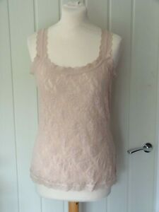 Hanky Panky LACE CAMISOLE  CHAI BEIGE SIGNATURE STRETCH  Size L  NEW  RRP £49