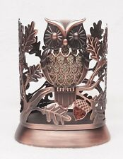 1 Bath & Body Works GLITTER OWL Bronzed Metal Hand Soap Sleeve Holder Foam Deep